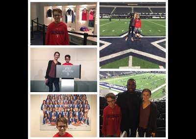 chalie and Abby Gibbs Dallas Stadium